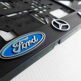Podznačky auto - držáky SPZ - Mercedes - Benz, Ford
