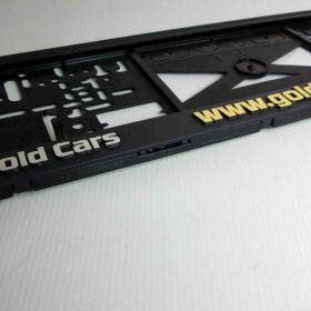 Podznačky auto - držáky SPZ - Gold Cars