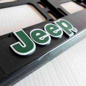 Podznačky auto - držáky SPZ - Jeep