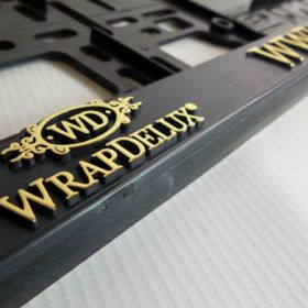 Podznačky auto - držáky SPZ - WrapDelux