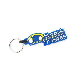 Kožené a gumové klíčenky s logem - reference - Auto Slezáček