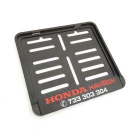 Podznačky moto - držáky SPZ - Honda Havířov