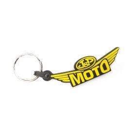 Kožené a gumové klíčenky s logem - reference - JP Moto