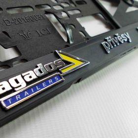 Podznačky auto - držáky SPZ - Agados