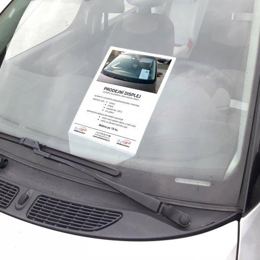 Prodejní displej A4 pro autobazary