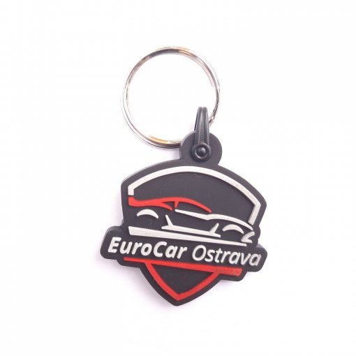 Gumová klíčenka s logem Eurocar Ostrava